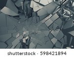 abstract 3d rendering of... | Shutterstock . vector #598421894