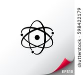 atom model | Shutterstock .eps vector #598422179