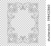 ornament in baroque style | Shutterstock .eps vector #598422860