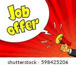 job offer advertisement poster. ... | Shutterstock .eps vector #598425206