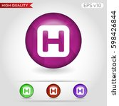colored icon or button of... | Shutterstock .eps vector #598426844