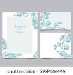 set vector illustration blue... | Shutterstock .eps vector #598428449