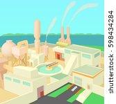 industrial factory concept.... | Shutterstock . vector #598434284