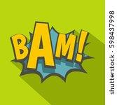bam  comic book explosion icon. ... | Shutterstock . vector #598437998