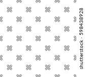 vector seamless pattern. cute... | Shutterstock .eps vector #598438928