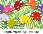 seamless pattern for children... | Shutterstock .eps vector #598441730