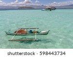 beautiful beach sand bar at... | Shutterstock . vector #598443734