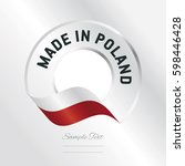 made in poland transparent logo ... | Shutterstock .eps vector #598446428