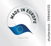 made in europe transparent logo ... | Shutterstock .eps vector #598446533