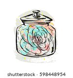 hand drawn vector abstract... | Shutterstock .eps vector #598448954