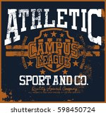 athletic t shirt graphic | Shutterstock .eps vector #598450724