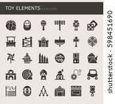 toy elements   thin line and... | Shutterstock .eps vector #598451690