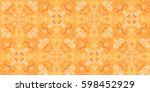 vector seamless pattern in... | Shutterstock .eps vector #598452929