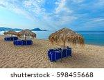 summer morning sandy tristinika ... | Shutterstock . vector #598455668