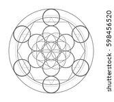 sacred geometry symbol.... | Shutterstock .eps vector #598456520