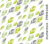 spring floral seamless pattern... | Shutterstock .eps vector #598461668