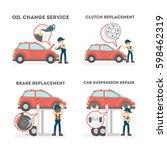 car service set on white... | Shutterstock .eps vector #598462319