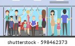 people in subway. busy traffic. ... | Shutterstock .eps vector #598462373