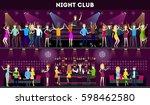 night club interior set. moder...   Shutterstock .eps vector #598462580