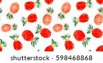 seamless pattern of hand drawn... | Shutterstock . vector #598468868