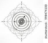 universe.solar system. sacred... | Shutterstock .eps vector #598474100