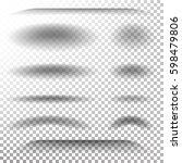 transparent soft shadow vector. ...   Shutterstock .eps vector #598479806