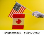 Small photo of Canada andt he United Statesof America flag