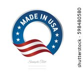 made in usa label logo icon... | Shutterstock .eps vector #598480580