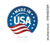 made in usa label logo stamp... | Shutterstock .eps vector #598480589