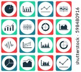 set of graphs  diagrams and... | Shutterstock .eps vector #598480916