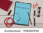 medecine concept   clipboard... | Shutterstock . vector #598483958