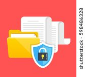 data protection  file security... | Shutterstock .eps vector #598486328