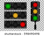 Traffic Lights On Transparent...