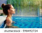 retreat and vacation..... | Shutterstock . vector #598492724