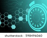 abstract business modern... | Shutterstock .eps vector #598496060