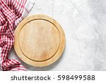 Old Round Wooden Cutting Board...
