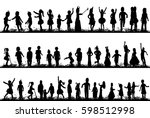 vector  isolated  silhouette of ... | Shutterstock .eps vector #598512998