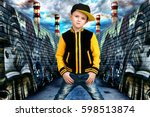 the little boy in the style of... | Shutterstock . vector #598513874