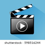 clapper board | Shutterstock .eps vector #598516244