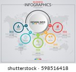 infographic business horizontal ... | Shutterstock .eps vector #598516418