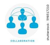 collaboration vector icon. | Shutterstock .eps vector #598517210