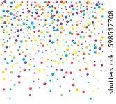festive colorful round confetti ... | Shutterstock .eps vector #598517708