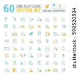 vector graphic set. icons in... | Shutterstock .eps vector #598520534