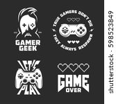retro video games related t... | Shutterstock .eps vector #598523849