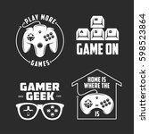 retro video games related t... | Shutterstock .eps vector #598523864