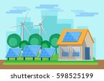 green energy an eco friendly... | Shutterstock .eps vector #598525199