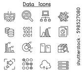 data mining technology  data... | Shutterstock .eps vector #598527080