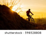 silhouette of enduro cyclist... | Shutterstock . vector #598528808