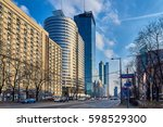 Small photo of Warsaw, Poland - March 05, 2017: Q22 is a neomodern office skyscraper in Warsaw by the Polish real estate developer Echo Investment and designed by APA Kurylowicz. The building is 195 metres high.