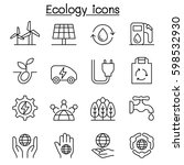 ecology  green energy icon set... | Shutterstock .eps vector #598532930